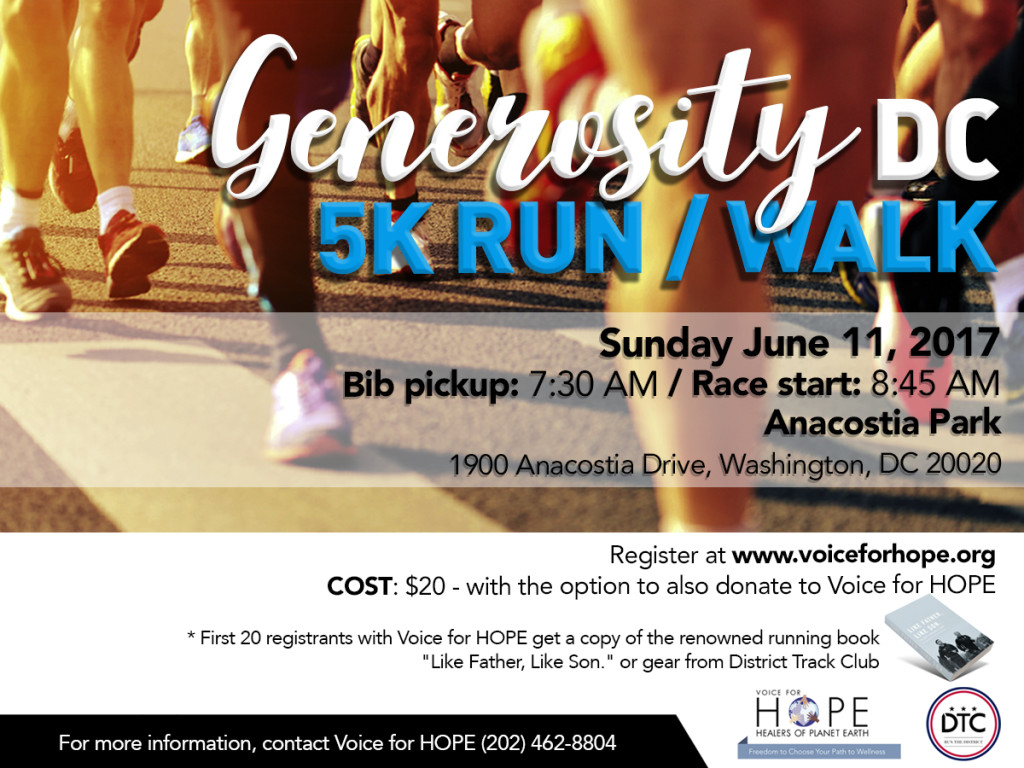 Voice for HOPE 5K Run-Walk June 11